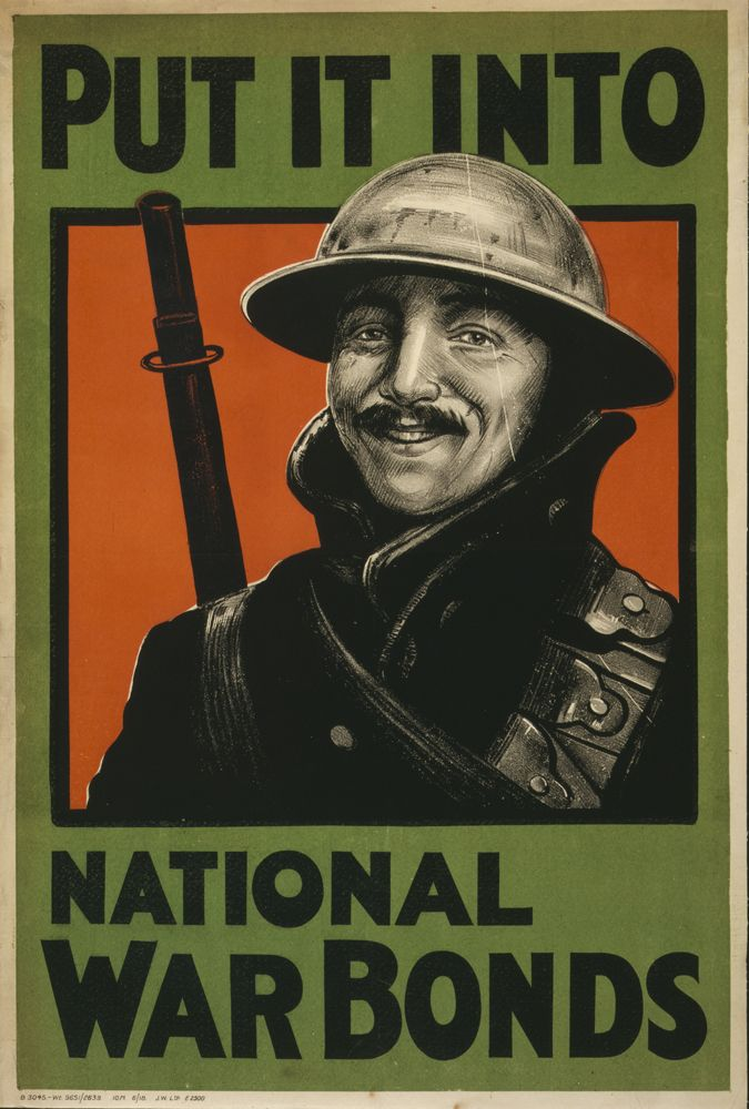 World War 1 Poster Put It Into National War Bonds World