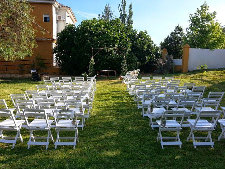 """Martina se Casa: La boda de Alberto y Marina: el """"altar"""" DIY"""
