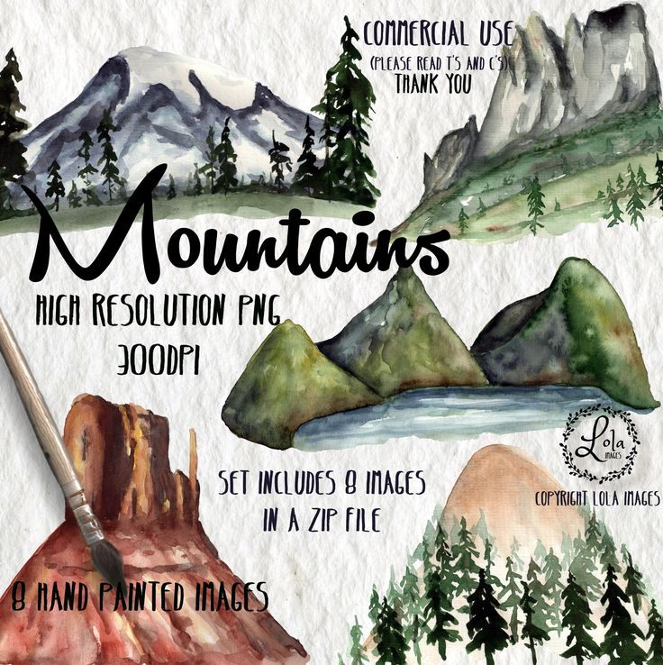 Excited to share the latest addition to my #etsy shop: Mountains Digital Clipart | Hills Nature Hiking Vacation Clip Art | Hand Painted Watercolor | Personal & Commercial Use | PNG Images https://etsy.me/2HlkVZM #art #drawing #watercolor #clipart #handpainted #illustra