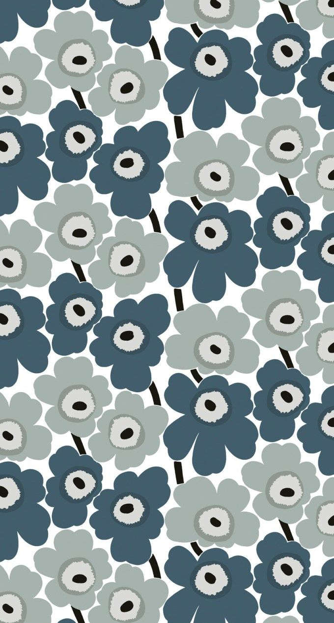 マリメッコ/ウニッコ06 iPhone壁紙 Wallpaper Backgrounds iPhone6/6S and Plus Marimekko Unikko iPhone Wallpaper
