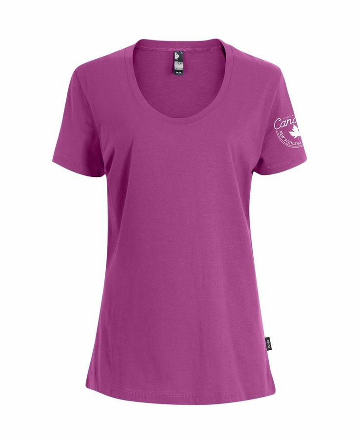 Heritage Women's V-Neck Tee - Fuchsia - Made in Canada