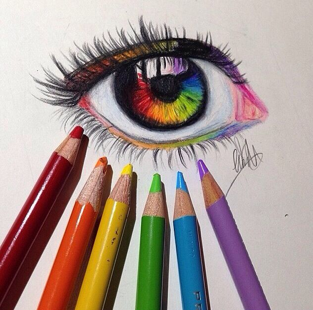 Rainbow eye drawing @naladraws http://phuchess.tumblr.com