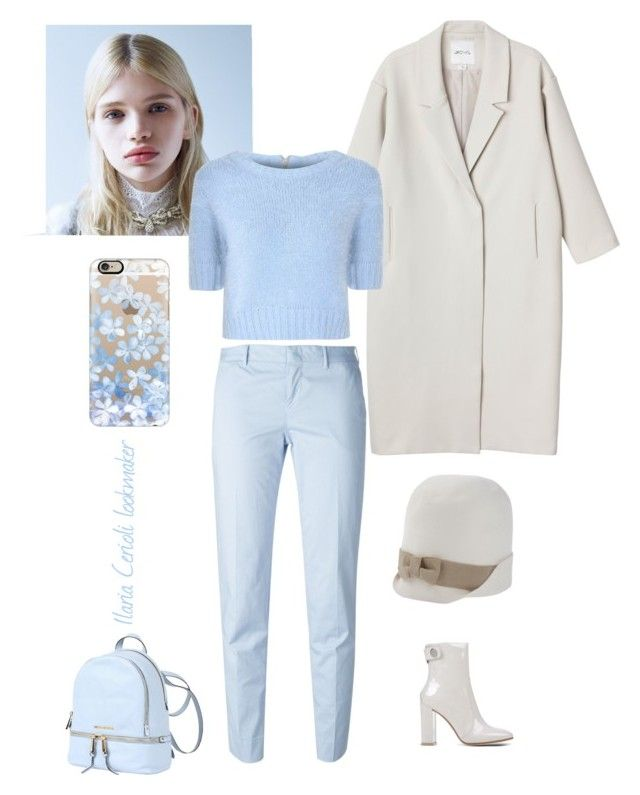 sky blue by ilaria-lookmaker on Polyvore featuring moda, Glamorous, Monki, PT01 Pantaloni Torino, Gianvito Rossi, MICHAEL Michael Kors, Dsquared2 and Casetify