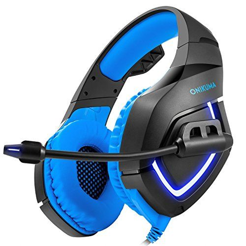 [2017 New] Gaming Headset, iRush PC Game Headphones with Noise Isolation Microphone, Stereo Surround Sound Hifi Gamer Earphones Over-Ear, Comfortable for Computer Laptop Smartphone | PC Gaming Headphones