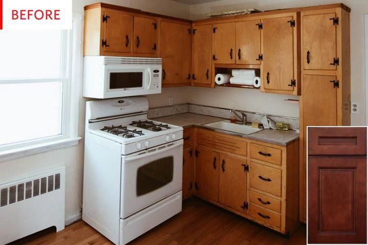 get more info on kitchen cabinets oak vs maple oakkitchencabinets cabinet old kitchen on kitchen cabinets painted before and after id=20608