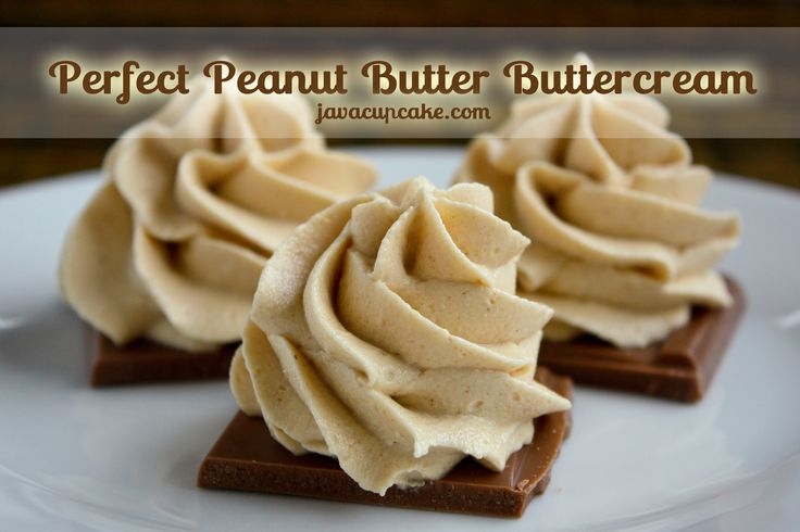 The Perfect Peanut Butter Buttercream by JavaCupcake.com - just a few simple ingredients! #peanutbutter #buttercream #frosting