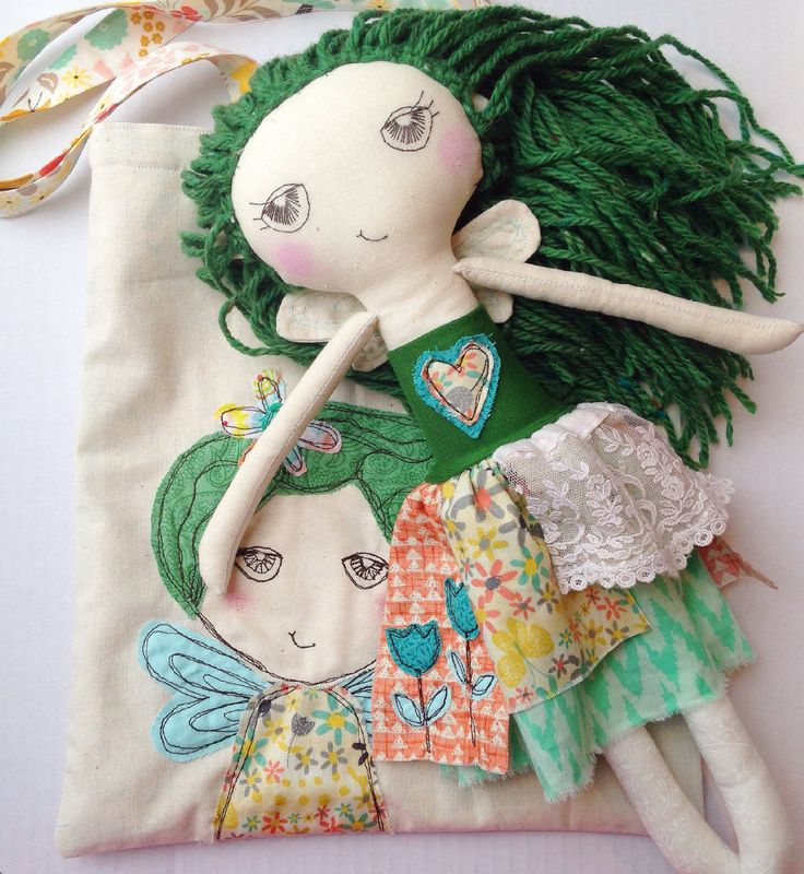 Mist Fairy - Cara - Fairy Cloth Doll and Bag by EilishTree on Etsy