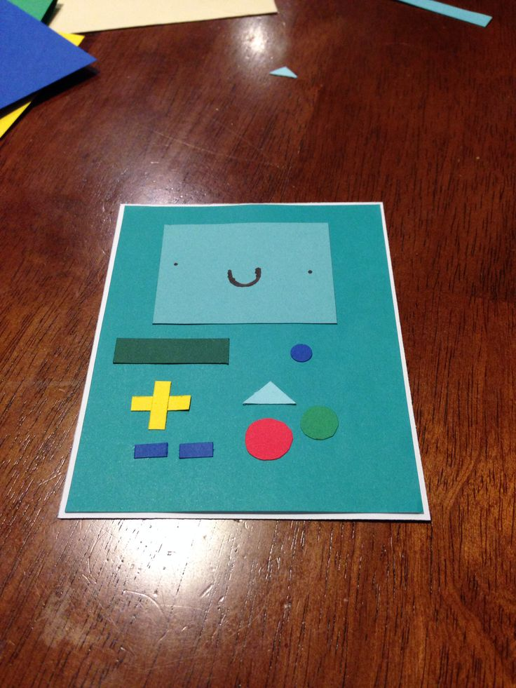 BMO from Adventure Time birthday card idea. Easy, Fun-To-Make, and simply adorable.