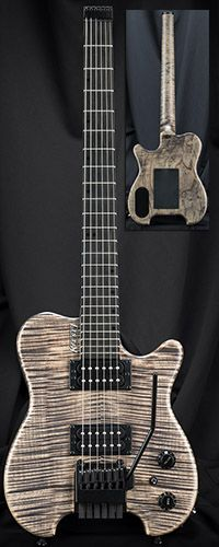 Kiesel Guitars HH2X Allan Holdsworth Signature Headless Guitar w/ Hipshot/Kiesel Tremolo System Serial Number 136862