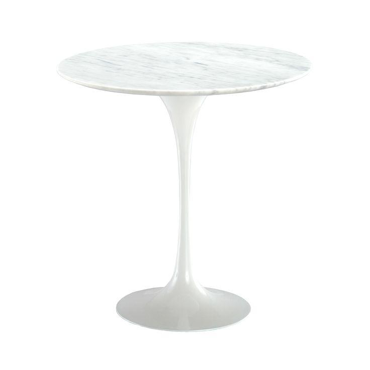 Pedestal Table in White Marble | dotandbo.com