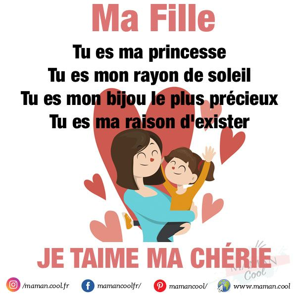 Ma Fille Cherie Lettre A Ma Fille Phrase Amour Fille