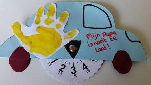 Afbeeldingsresultaat voor vaderdag knutselen parkeerschijf