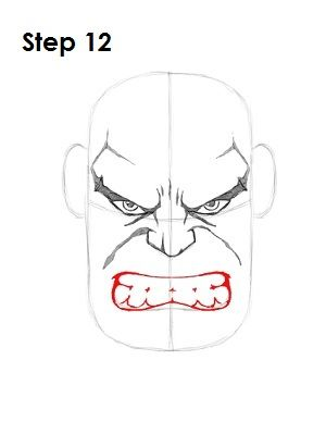 Draw the Hulk Step 12