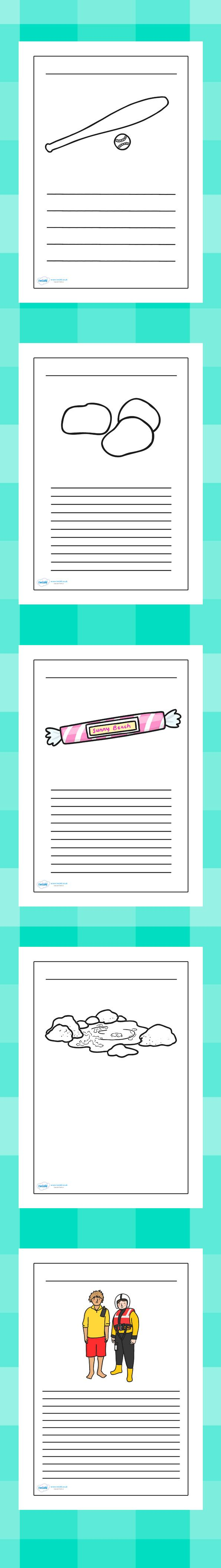 109 best seaside resources images on pinterest primary resources the seaside writing frames geenschuldenfo Gallery