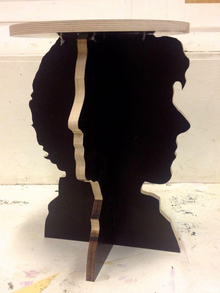 Sherlock Watson silhouette table