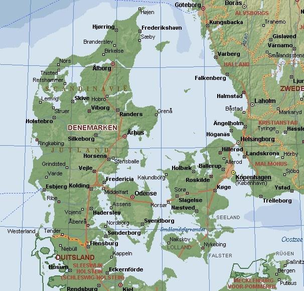 Denemarken. Voornamelijk doorheen gereden
