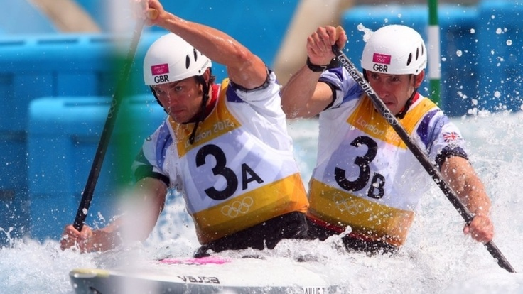 Tim Ballie (left) and Etienne Stott claimed Britain's first canoe slalom gold at the Lee Valley White Water Centre. Ranked sixth in the world, the pair beat their Team GB teammates David Florence and Richard Hounslow.