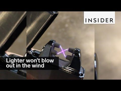 This eco-friendly lighter won't blow out in the wind - YouTube