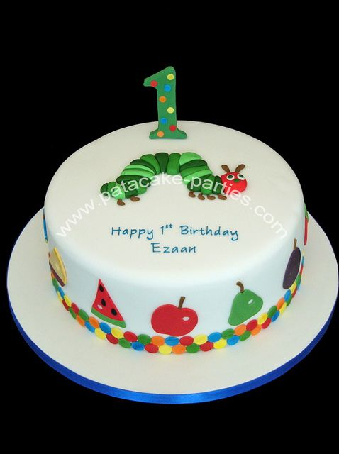 The Very Hungry Caterpillar Cake by Relznik, via Flickr