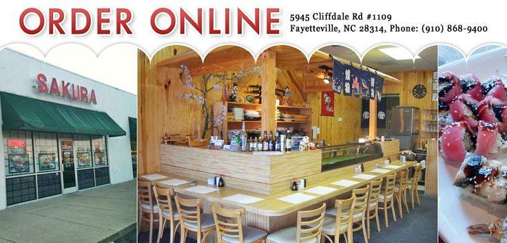 Sakura Restaurant - Fayetteville - NC - 28314 - Menu - Japanese, Sushi - Online Food in Fayetteville