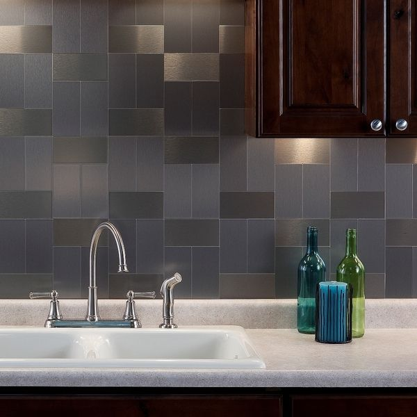 Aspect Is A Decorative Metal Tile That Provides The Look Of Custom Metal Backsplash And Wall Paneling At A Fraction Of The Cost This Easy To Use Product Is