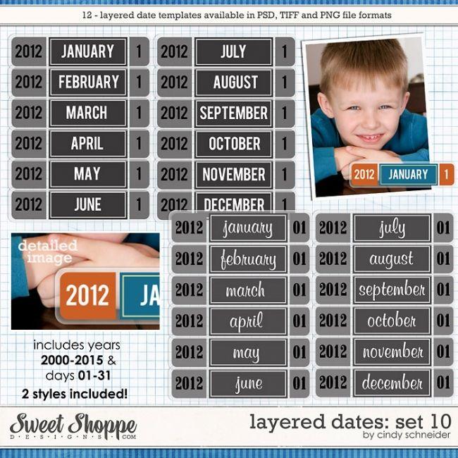 Cindy's Layered Dates: Set 10 by Cindy Schneider