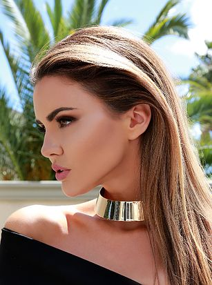 Gold Metal Choker - Alyanna by Alexandra  - 2