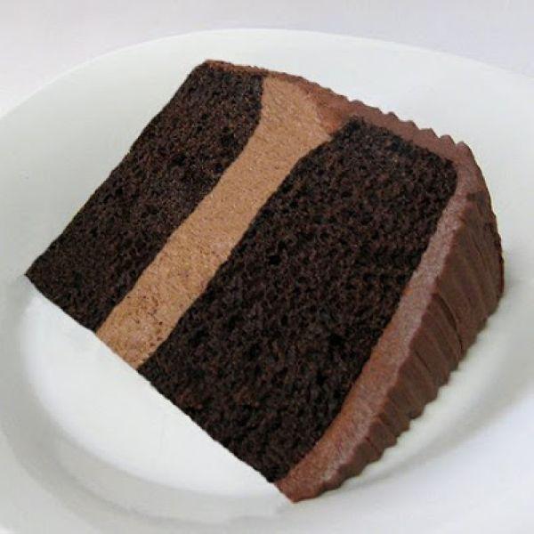 Chocolate Mousse Cake Filling with any fav dark choc cake