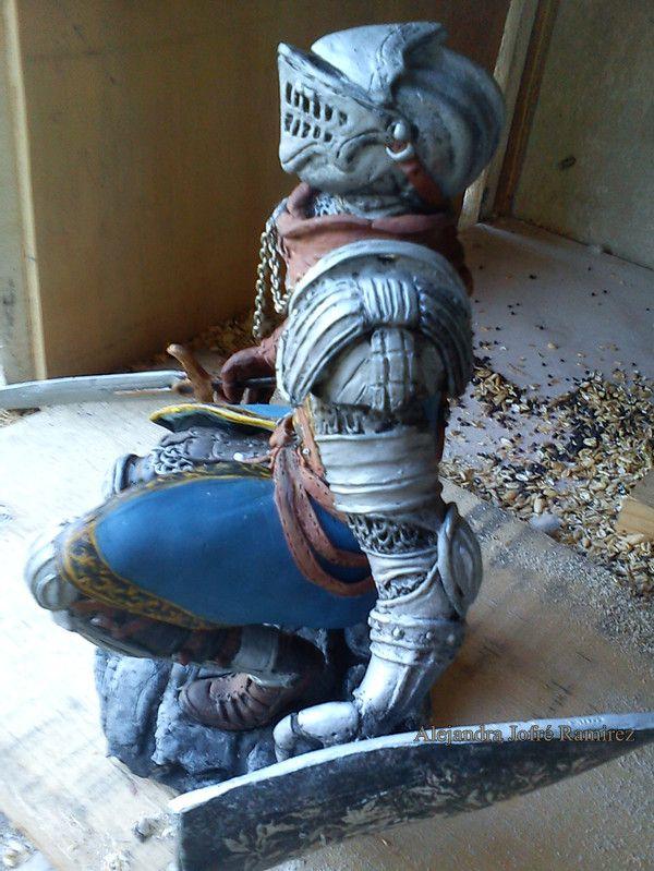 esculpiendo el caballero  by Alejandra Jofre Ramirez