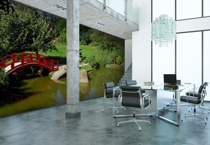 This landscape garden wall mural will bring an uplifting atmosphere to any room in any home.