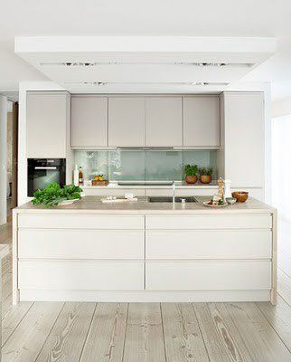 Sleek & Minimal Kitchen Cabinets: No Hardware Included