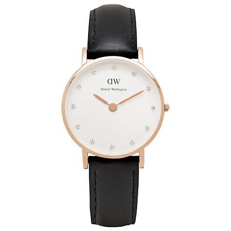 Daniel Wellington 0901DW Women's Classy Sheffield Leather Strap Watch - £99