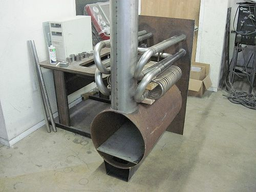 Wood Boiler Project Піч коллектор конвектор обогрев
