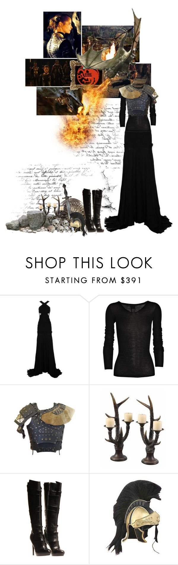 """Daena Targaryen ""The Defiant"""" by miumiu ❤ liked on Polyvore featuring Prabal Gurung, Rick Owens and Jil Sander"