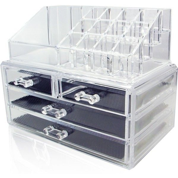 Ikee Design Acrylic Jewelry Cosmetic Storage Display Boxes Two Pieces... ($14) ❤ liked on Polyvore featuring home, home decor, jewelry storage, jewellery display boxes, acrylic display box, jewellery storage box, acrylic home decor and jewelry display box