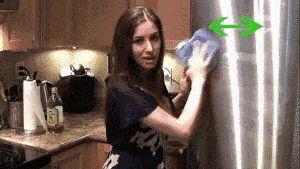 Cómo limpiar un refrigerador de acero inoxidable