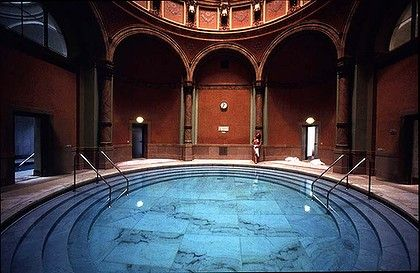 Baden Baden Roman bath- where swimming buck naked with strangers is perfectly fine.