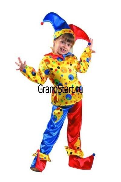Детский маскарадный костюм петрушка купить в москве