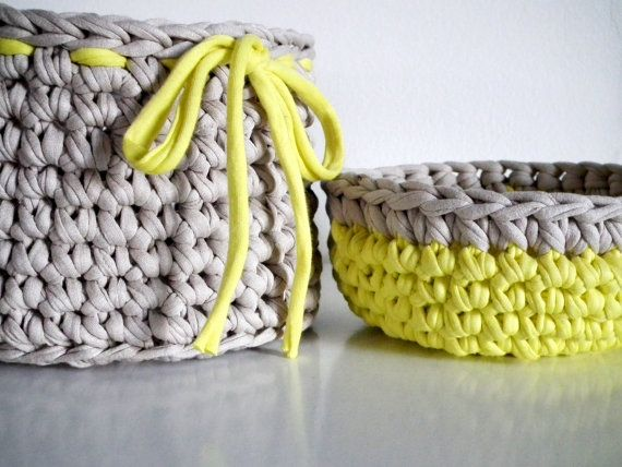 Crochet Basket and Bowl  Organizers Baskets Crochet by LoopingHome, €22.50