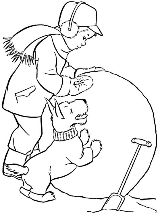 Scottie Big Snowball Coloring Page