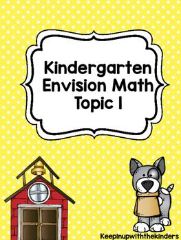 Kindergarten Envision Math Topic 1 Worksheets #envisionmath #envision #kindergarten