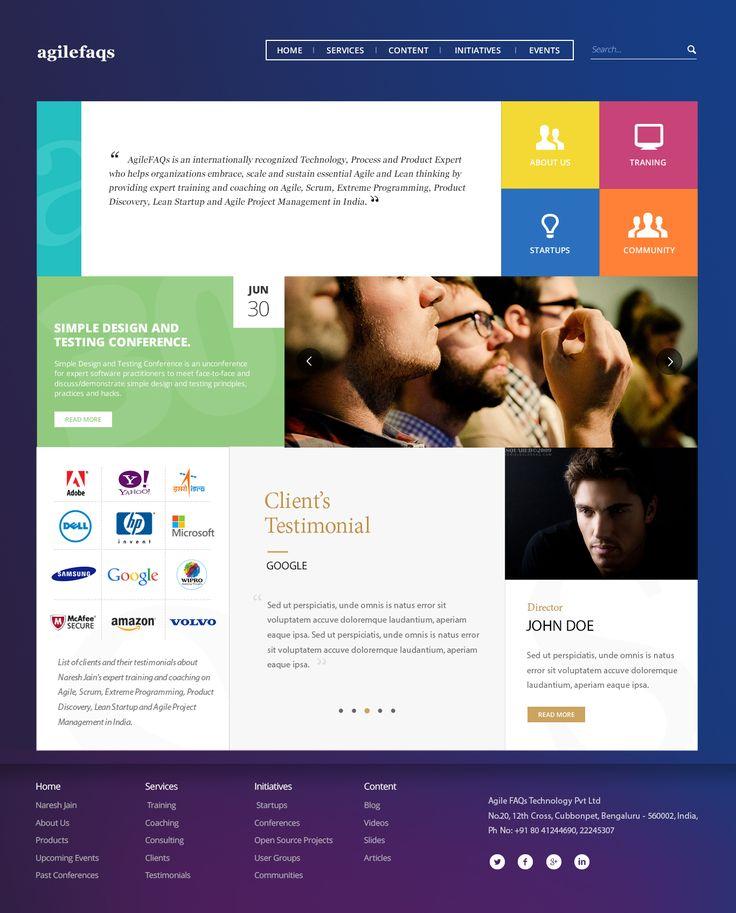 Agilefaqs homepage ui v3