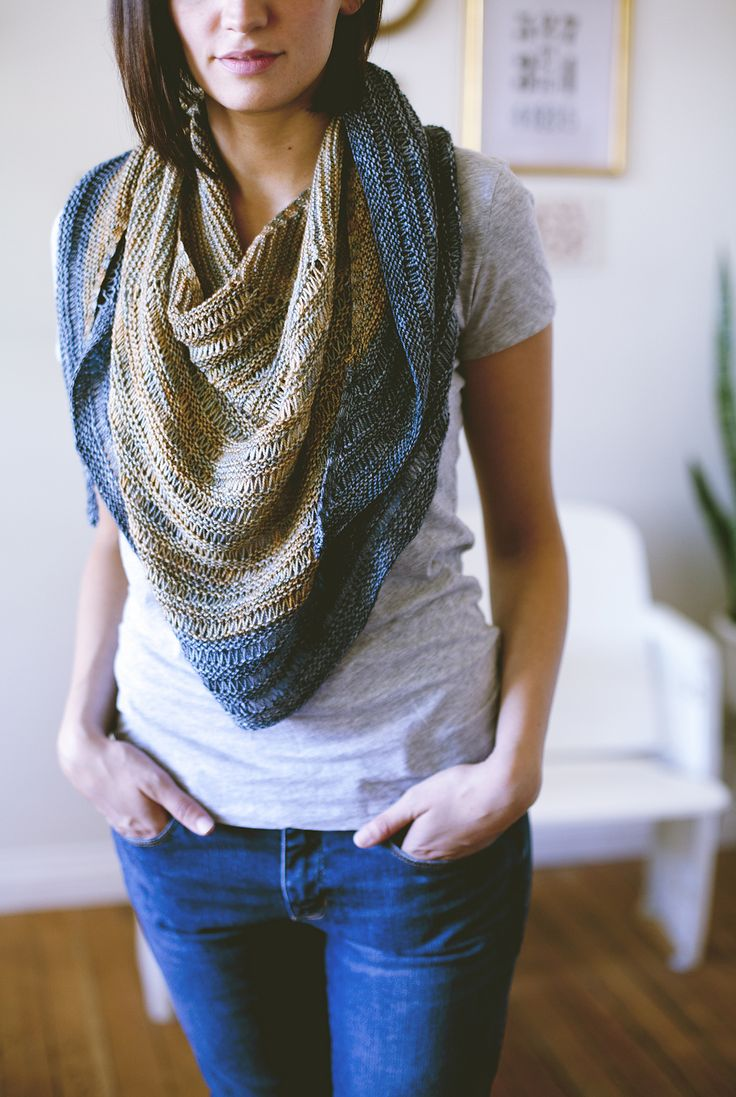 Laylow by Shannon Cook from SEASONLESS | Mini Collection Volume One #seasonlessknits #knitting #shawl #book