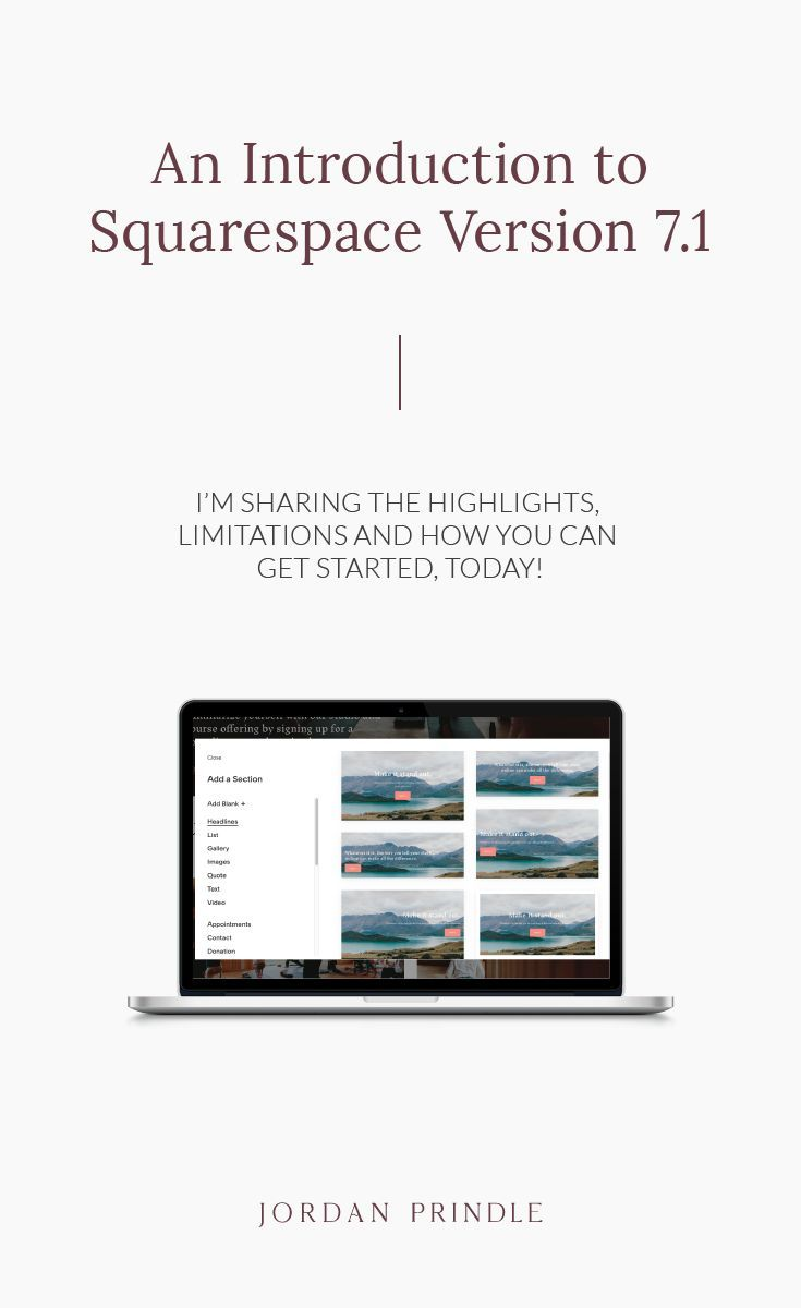 An Introduction To Squarespace Version 7 1 Squarespace Design Squarespace Tutorial Squarespace