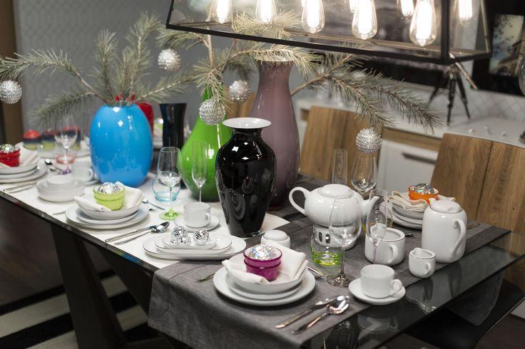 Świąteczne i nowoczesne nakrycie stołu  z porcelaną RAW #mojpieknystol