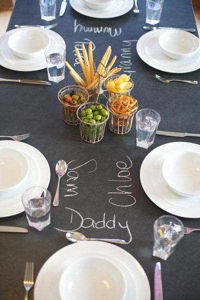 Fun ways to use our slate top tables www.slatetoptables.com
