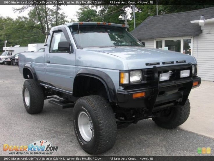 Wheel And Tire Packages For Jeeps 1990 Nissan Hardbody Truck Regular Cab 4x4 Winter Blue ...