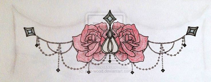 Dainty Sternum Tattoo Sketch