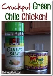 Crock Pot Green Chile chicken~ Crockpot Recipes Round-up - Good Recipes Online