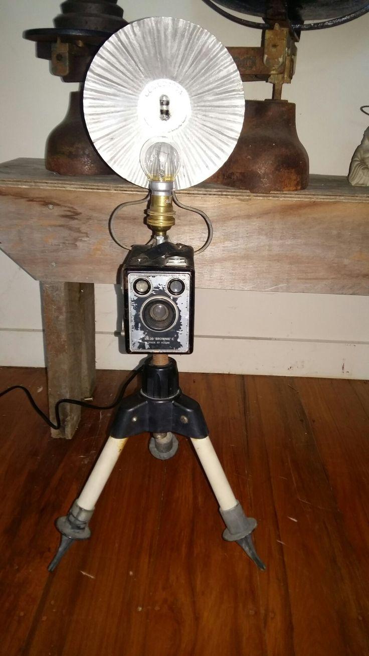Old skool camera lamp